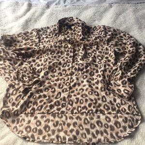 H&M leopard print size 4 blouse